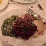 Filet Mignon and creamed spinach