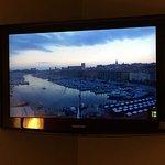 Pas de vue sur le port mais la webcam sur la télé de la chambre