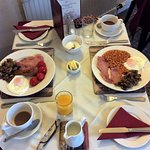 This was only half of the breakfast!!