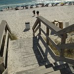 Miramar Beach - access stairs (bottom step is quite big)
