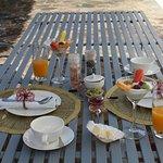 Frühstück auf der eigenen Terrasse!
