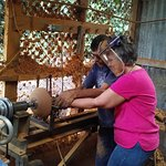 my sister turning a bowl with Jose Luis