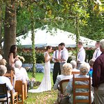 The Inn provided me with an arbor that we decorated. Photo taken by Mary Mincey Photography.