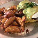 Pork belly eggs Benedict.