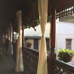 terrasse privative très agréable pour le petit déjeuner