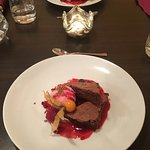 Delicious chocolate cake with raspberry!