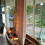 sailboat in hotel lobby