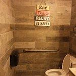 And a nice clean bathroom