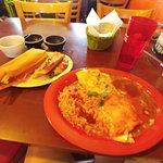 My Carnitas Burrito and tamale.