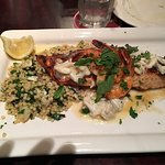 We tried some new items on the menu today: Moroccan salmon , whitefish and redfish . These items