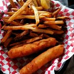Cod fishsticks and chips