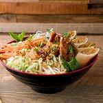 Bô bun aux crevettes avec nems aux crevettes