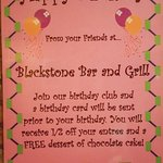 Blackstone Grill Birthday Club