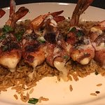 Date Night with my Hubby, we had the grill shrimp enbrochette