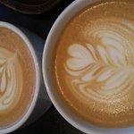 Latte with foam art