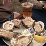 Half dozen oysters and a beer.