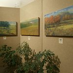 Michael Callihan paintings in east gallery