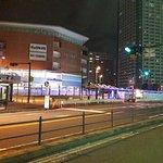 The Lazona Kawasaki Plaza just outside the entrance .