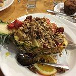 South Beach-yogurt,fruit topped with granola-YUM!