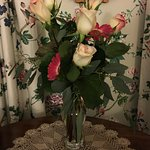 Fresh flowers on arrival with the vow renewal package