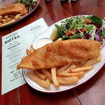 Beer Battered Spanish Mackerel and Chips