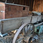 wagon in the shed