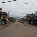 Main street in Vang Vieng...at night it was full of people from everywhere.