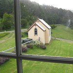 View of little old church from our (upstairs) room window
