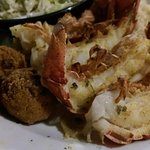 Lobster tails and hush puppies