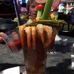 The shrimp Bloody Mary