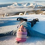 Snow Angels on Tumalo Mountain