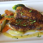 Blackened sea bass for lunch - absolutely the best!