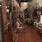Beer brewing equipment in Iron Hill Brewery in Maple Shade