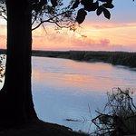 Sunset on the Okavango