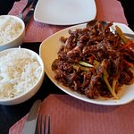 Crispy Beef and Steamed Rice