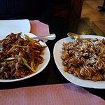 Crispy Beef and Sesame chicken