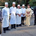 The Nakamichi family (owners) and some of their kitchen staff