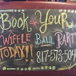 Book your party on the Wiffle Ball Field!