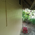 Plantation Bure: suspicious box outside bathroom window