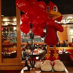 NOV 2016. Red Robin offered us balloons.