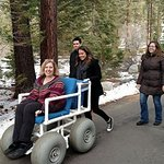 Beach wheelchair - available at Lake Tahoe beach office