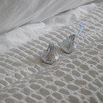 Love the Hershey Kisses on the bed!