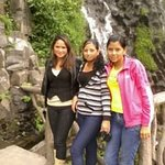 In this picture, I am in the Agua Santa waterfall.