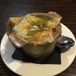French onion soup at the Boulevard