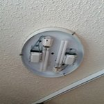 Missing light fixture cover