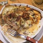 Había comido anteriormente pizza y fue rico pero la lasagna de verduras es Maravillosa! Chupe de