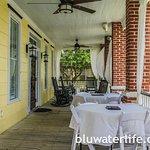 Breakfast on the veranda, with a sea breeze.