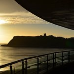 Daytime view form the blacony looking towards Scarborough Castle.