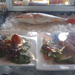 Fresh seafood waiting to be prepared