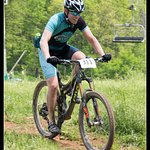 One of the riders in the Cliffhanger Trail Challenge